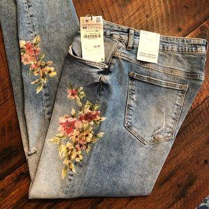 Zara Basic Z1975 Denim Mid Rise Skinny Jean
